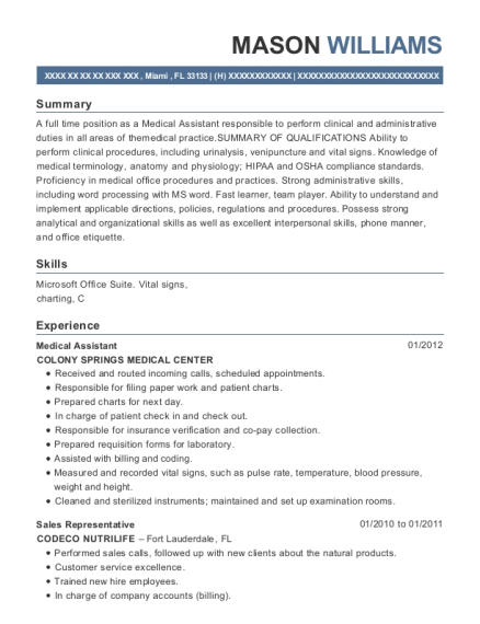emergency medicine physicians physician assistant resume