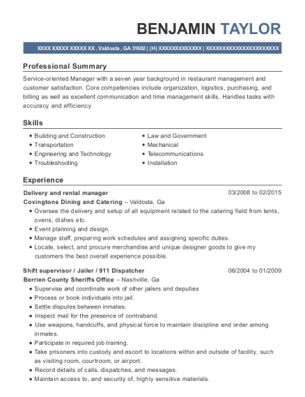 holiday retirement property manager resume sample