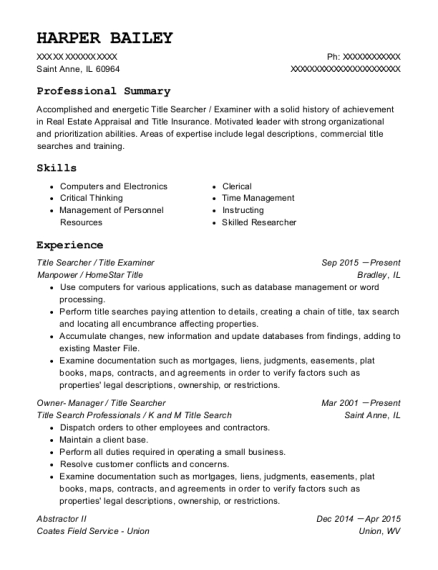 swoop abstract senior title searcher resume sample