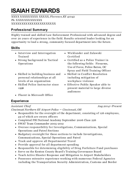 village of broadview fire department fire captain resume