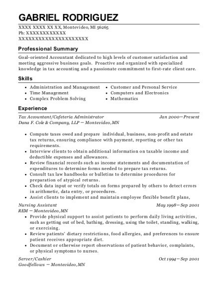 lhp property accountant resume sample
