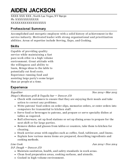 top cor expeditor resume sample