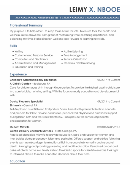 scarborough maternity unit staff midwife resume sample
